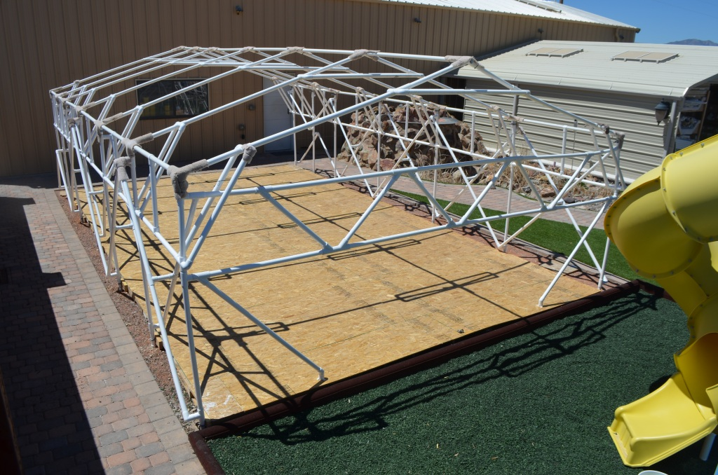 Canopy Made With Pvc Pipe Amp Cabana On Deck