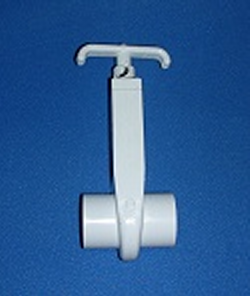0401-10 1 inch Gate Knife Blade Valve - PVC-Valves-Gate