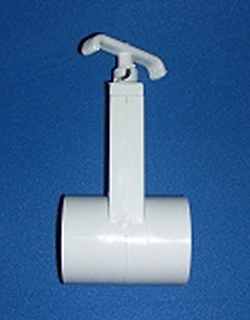 0401-15 1.5 inch Gate Knife Blade Valve - PVC-Valves-Gate