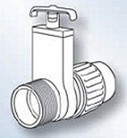 0435-15 1.5 MPT x Union Gate Knife Blade Valve - PVC-Valves-Gate
