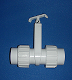 0501-15 1.5 inch Unionized Gate Knife Blade Valve - PVC-Valves-Gate