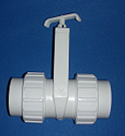 0501-20 2 inch Unionized Gate Knife Blade Valve - PVC-Valves-Gate
