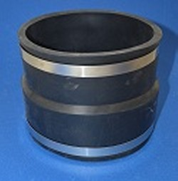 1002-55 Clay 5 to 5 PVC/IPS Fernco Reducer-Transition Rubber Couple - Fernco-Rubber-Couples-Reducing