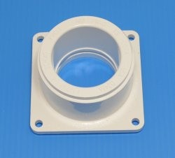 1005-012W Mounting Flange Square Socket (female) 1.25 inch Sch 40 pipe - PVC-Fittings-Flanges-Mounting