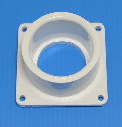 1005-015W Mounting Flange Square Socket (female) 1.5 inch Sch 40 pipe  - PVC-Fittings-Flanges-Mounting