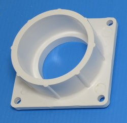 1005-020W Mounting Flange Square Socket (female) 2 inch Sch 40 pipe - PVC-Fittings-Flanges-Mounting