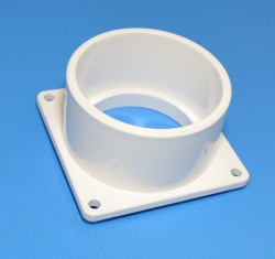 1005-030W Square Mounting Flange Slip Socket (female) 3 Sch 40 pipe - PVC-