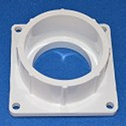 1005-030W Square Mounting Flange Slip Socket (female) 3 Sch 40 pipe - PVC-Fittings-Flanges-Mounting