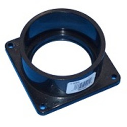 1005-030B BLACK Mounting Flange Square Socket (female) 3 inch pipe  - PVC-Fittings-Flanges-Mounting
