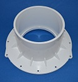 1005-060W Mounting Flange Slip Socket (female) 6 inch COO:MEXICO - PVC-Fittings-Flanges-Mounting