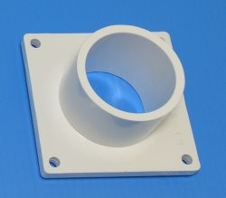 1006-015W 1.5 inch Square Mounting Flange Spigot/Street (male) - PVC-Fittings-Flanges-Mounting