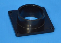 "1006-020B Black 2"" Square Mounting Flange Spigot/Street (male) - PVC-Fittings-Flanges-Mounting"
