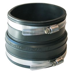 "1059-44 Fernco Fitting Extender for 4"" fitting & extender, see details - Fernco-Rubber-Couples-Reducing"