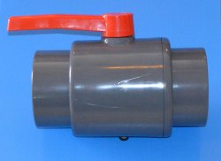 "1060GS 6"" PVC Ball Valve Slip Gray COO:USA - PVC-"