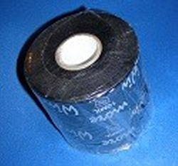 "10mil x 4"" x 100feet BLACK tape - PVC-Pipe-Wrapping-Tape"