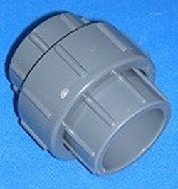 1205GS 1/2 unrated slip x slip union GRAY COO:CHINA - PVC-