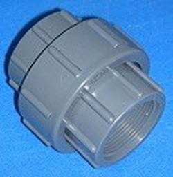 1205GT 1/2 unrated FPT (female NPT) x FPT (female NPT) union GRAY - PVC-Fittings-Unions-China
