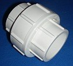 1214WT 1.25 unrated FPT x FPT union white COO:CHINA - PVC-Fittings-Unions-China