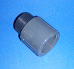 834-012 Sch 80 (GRAY) 1.25 inch fitting riser extension - PVC-Fittings-Riser-Extensions