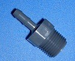 1436-072 1/2 MPT x 1/4 PVC Industrial Barb/Insert Fittings - Barb-Adapters-Threaded