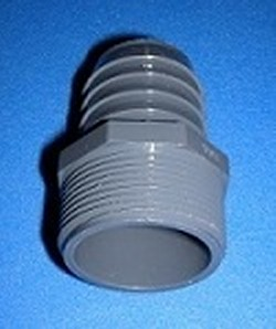 1436-131 1mpt x 3/4 barb Industrial Barb/Insert Fittings COO:USA - Barb-Adapters-Threaded