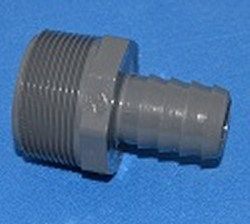 "1436-168 1.25MPT x 1"" Industrial Barb/Insert Fittings COO:USA - Barb-Adapters-Threaded"