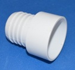 1474-020W 2 inch barb x 2 inch slip WHITE, NSF Rated, COO: USA - Barb-Adapters-Slip-Spigot