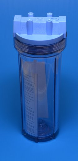 "Clear blue 10"" filter housing - Reverse-Osmosis-Parts"