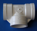 405-012 1.25 inch FPT x3-Tees COO: USA - PVC-Fittings-Tees-FPTx3