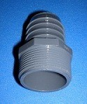 1436-075 1/2 mpt x 1 Industrial Barb/Insert Fittings COO:USA - Barb-Adapters-Threaded