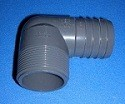 1413-010 1 MPT by 1 barb 90 Industrial Elbow COO:USA - Barb-Elbows