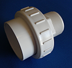 "1.5 MPT by 2"" slip UNION - PVC-Fittings-Unions-Unrated"