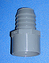 1432-212 1.5 inch spigot by 1.25 inch barb - Barb-Adapters-Slip-Spigot
