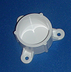 "Mounting Cap for 1.5"" pipe - PVC-Fittings-Caps-Mounting"