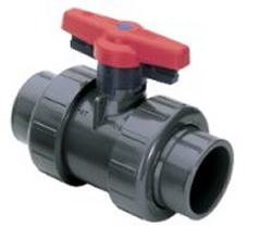1839V-005 Vented Industrial Ball Valve with FkM/viton seal COO:USA - PVC-Valves-Ball-Valves-TrueUnion