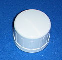 D447-010 1 inch cap sch 40 ridges COO:USA - PVC-Fittings-Caps-Sch40-Slip