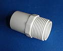 433-002 1/4 male fitting adapter (mpt x spigot) COO:USA - PVC-