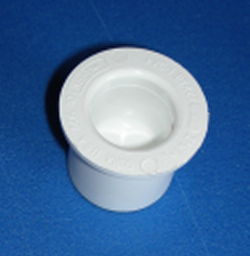 "449-015CS 1.5"" plug, counter sunk plug, ie exterior cavity - PVC-Fittings-Plugs-Standard"