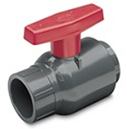 2622-040G 4 inch PVC Ball Valve Slip GRAY (Spears Brand) - PVC-Valves-Ball-ValvesSlip