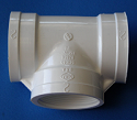 405-020 2 inch FPT x3-Tees COO: USA - PVC-Fittings-Tees-FPTx3