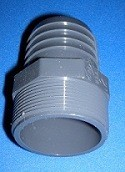 1436-025 2.5 barb by 2.5 MPT Industrial Barb/Insert Fittings - Barb-Adapters-Threaded