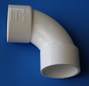 "406-015S 1-1/2"" Sweep 90 Elbow, COO:USA  - PVC-Fittings-Elbows-SpearsSweep90s"