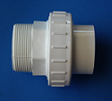 2 MPT x 1.5 slip or 2 spigot Union - PVC-Fittings-Unions-Unrated