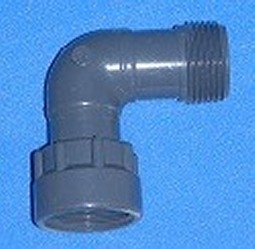 "306-009 MPT x QD (1"" FPT (female NPT) with O-ring) 90 elbow COO:USA - BulkheadModularSystem"