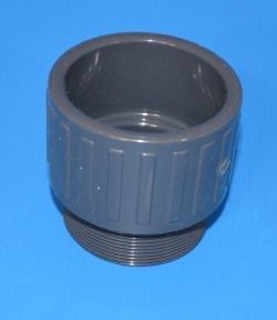 "336-025G Male Adapter 2.5"" BSPT x 2.5"" slip socket. - PVC-"