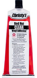 34664 Christys Clear UV Rated Glue/Cement 8 oz Tube COO:USA -