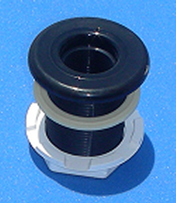 11-1100BLK BH 3/4 inch BLACK - Bulkhead-Fittings-Standard