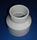 429-338 3 x 2 reducing couple bell COO:USA - PVC-Fittings-Couples-Reducing