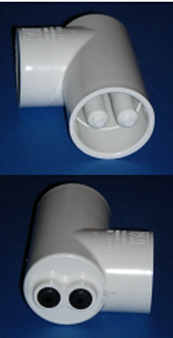 1.5 inch Waterway Twin Thermowell - PVC-Fittings-Thermowells