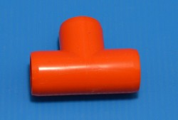 "401-005ORG ORANGE 1/2"" Tee COO:UNKNOWN - PVC-Fittings-Colors"